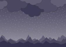 βροχή διάνυσμα βροχής εικόνας σκοτεινής μέρας σύννεφων υγρό Στοκ εικόνα με δικαίωμα ελεύθερης χρήσης