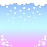 βροχή καρδιών Στοκ φωτογραφία με δικαίωμα ελεύθερης χρήσης
