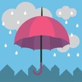Βροχή ομπρελών Στοκ Φωτογραφίες