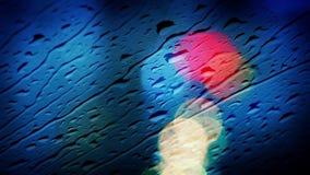 Βροχή στην περίληψη παραθύρων αυτοκινήτων απόθεμα βίντεο