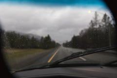 Βροχή στον ανεμοφράκτη Στοκ Εικόνα