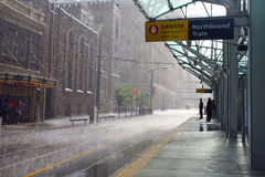 Βροχή στο Κάλγκαρι, Καναδάς στοκ εικόνες με δικαίωμα ελεύθερης χρήσης