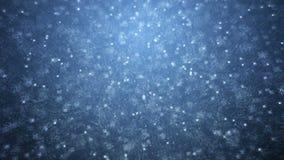 Βροχή στο darkly μπλε υπόβαθρο απόθεμα βίντεο