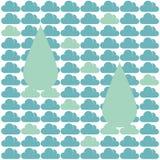 Βροχή σύννεφων σχεδίων Στοκ Εικόνες