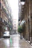 βροχή της Βαρκελώνης Στοκ Φωτογραφία