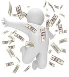Βροχή των χρημάτων Στοκ Εικόνα