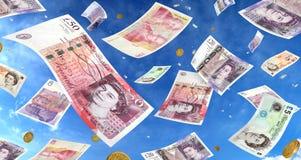 βροχή χρημάτων Στοκ φωτογραφία με δικαίωμα ελεύθερης χρήσης
