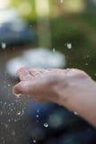 βροχή raindrops Στοκ φωτογραφία με δικαίωμα ελεύθερης χρήσης