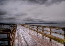 βροχή Sidney αποβαθρών Στοκ Εικόνα