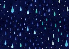 Βροχή Watercolor. Στοκ Εικόνα
