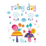 Βροχερή ημέρα - καιρική απεικόνιση Στοκ Φωτογραφία