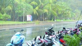 Βροχερή ημέρα σε Phuket απόθεμα βίντεο
