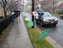 Βροχερή ημέρα στην ενδιάμεση εκλογή στοκ εικόνες με δικαίωμα ελεύθερης χρήσης