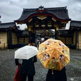 Βροχερή ημέρα στην Ιαπωνία Στοκ Φωτογραφίες
