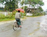 Βροχερή ημέρα στη Shan το Μιανμάρ στοκ εικόνα με δικαίωμα ελεύθερης χρήσης