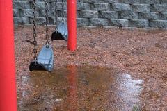 Βροχερή ημέρα στο πάρκο Στοκ Εικόνες