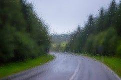 Βροχερή ημέρα nn η εθνική οδός Στοκ Εικόνα