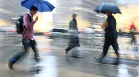 Βροχερή θαμπάδα κινήσεων ημέρας Στοκ φωτογραφία με δικαίωμα ελεύθερης χρήσης