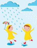 Βροχερή διανυσματική απεικόνιση ημερών Στοκ εικόνες με δικαίωμα ελεύθερης χρήσης