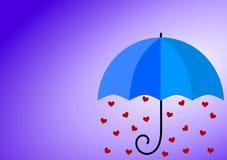 Βροχερή κάρτα ημέρας πατέρων αγάπης Στοκ Φωτογραφίες