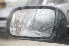 Βροχερή καιρική κυκλοφορία Στοκ Φωτογραφία