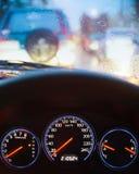 Βροχερή κυκλοφοριακή συμφόρηση Στοκ φωτογραφία με δικαίωμα ελεύθερης χρήσης