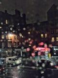 Βροχερή νύχτα της Γλασκώβης στοκ εικόνα με δικαίωμα ελεύθερης χρήσης