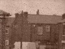 βροχερή οδός ημέρας Στοκ εικόνα με δικαίωμα ελεύθερης χρήσης