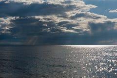 Βροχερή παραλία Στοκ Εικόνα