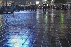 Βροχερή πόλη στοκ φωτογραφία με δικαίωμα ελεύθερης χρήσης