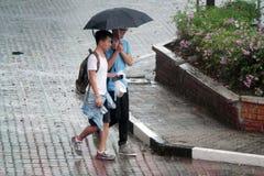 Βροχερή σκηνή ημέρας υπαίθρια Στοκ Εικόνες