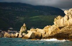 Βροχεροί ουρανοί άνω του ST Stephen Μαυροβούνιο στοκ φωτογραφία
