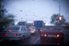 βροχερός δρόμος Στοκ εικόνα με δικαίωμα ελεύθερης χρήσης