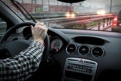 βροχερός οδικός καιρός Στοκ εικόνες με δικαίωμα ελεύθερης χρήσης