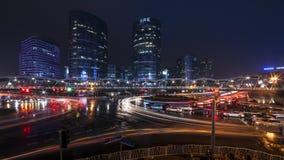 Βροχερός δρόμος ποταμών Jinsha νύχτας Στοκ Εικόνα