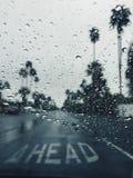 βροχερός δρόμος Στοκ Φωτογραφία