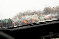 βροχερός δρόμος Στοκ Εικόνα