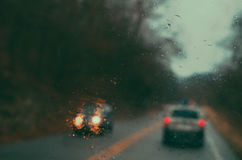 βροχερός δρόμος Στοκ Εικόνες