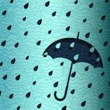 Βροχερό έμβλημα Στοκ εικόνα με δικαίωμα ελεύθερης χρήσης