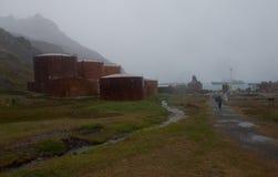 Βροχερό Grytvyken Στοκ φωτογραφία με δικαίωμα ελεύθερης χρήσης