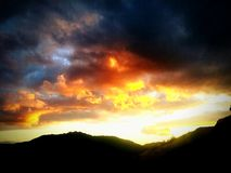 Βρυμένος ουρανός! Στοκ Φωτογραφία