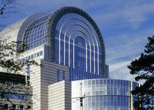 Βρυξέλλες που χτίζουν το Κοινοβούλιο της ΕΕ Στοκ Φωτογραφίες