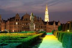 Βρυξέλλες - Mont des Arts Στοκ Φωτογραφία