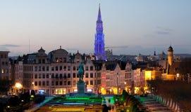 Βρυξέλλες Mont des Arts Στοκ Φωτογραφίες