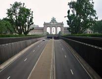 Βρυξέλλες - σήραγγα Cinquntenaire Στοκ φωτογραφία με δικαίωμα ελεύθερης χρήσης