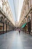 ΒΡΥΞΕΛΛΕΣ, ΒΕΛΓΙΟ - 12 ΑΥΓΟΎΣΤΟΥ 2012: Galeries royales Άγιος -Άγιος-hube στοκ φωτογραφίες με δικαίωμα ελεύθερης χρήσης