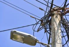 Βρωμίστε των ηλεκτρικών καλωδίων στοκ εικόνα