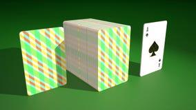 Βρόχος άσσων καρτών παιχνιδιού απόθεμα βίντεο