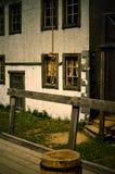 Βρόχος από ένα σχοινί για το κρεμασμένο άτομο σε ένα ικρίωμα στοκ εικόνες με δικαίωμα ελεύθερης χρήσης
