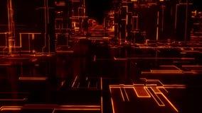 Βρόχος πόλεων ψηφιακών δικτύων - θερμό χρώμα απεικόνιση αποθεμάτων